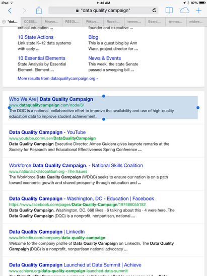 DataQualityCampaign Search on Google